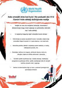 Nasilje nad ženama u doba korone - preporuke Svjetske zdravstvene organizacije